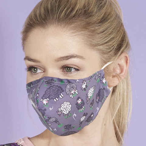 Reusable washable Face Mask Grey Sheep