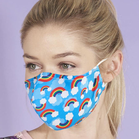 Reusable washable Face Mask Rainbow