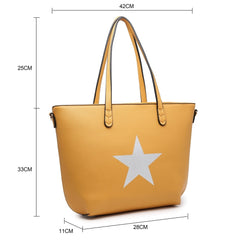 Trio Set of Star Bags in Mustard