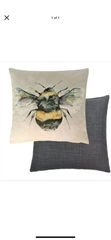 Lorient Decor by Voyage Cushion - Bee Silver Back