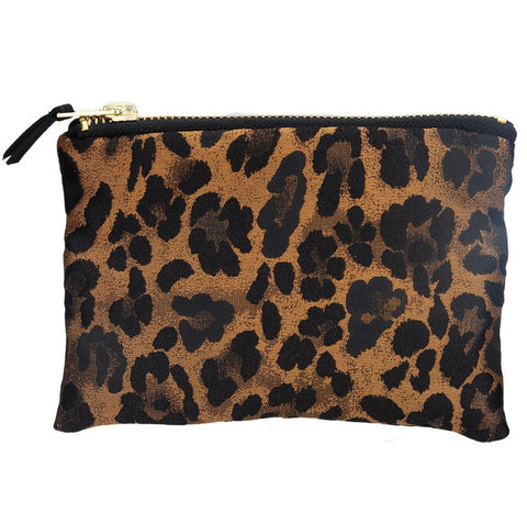 Coin Purse 17cm - Copper Leopard Print