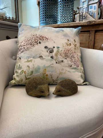 Lorient Decor by Voyage Cushion - Hedgehog Family