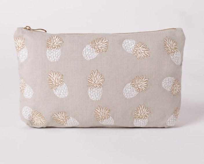 Elizabeth Scarlett Pineapple Grey Travel Pouch
