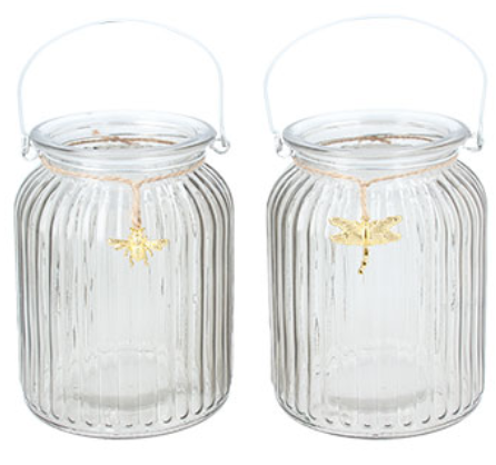 OUT OF STOCK Glass Night Light with bug charm by Gisela Graham