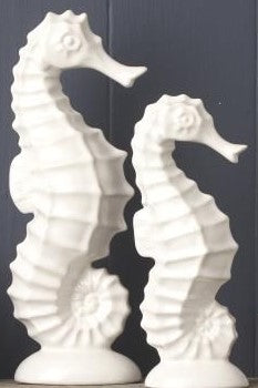 White Seahorse Ornament by Gisela Graham