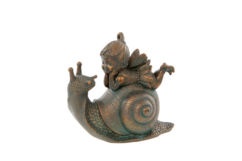 Fairy with Snail Ornament