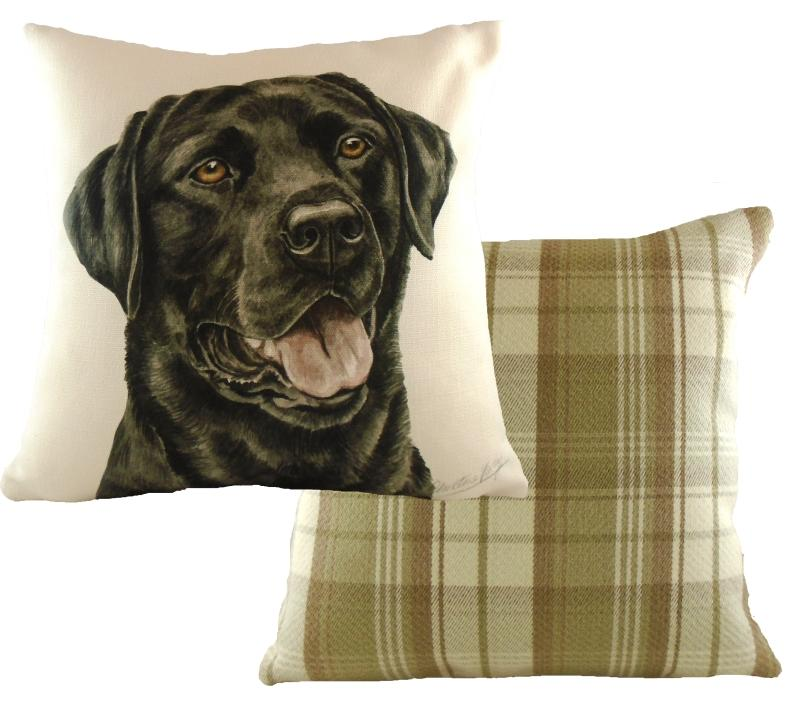 Waggydogz Cushion Square - Black Labrador