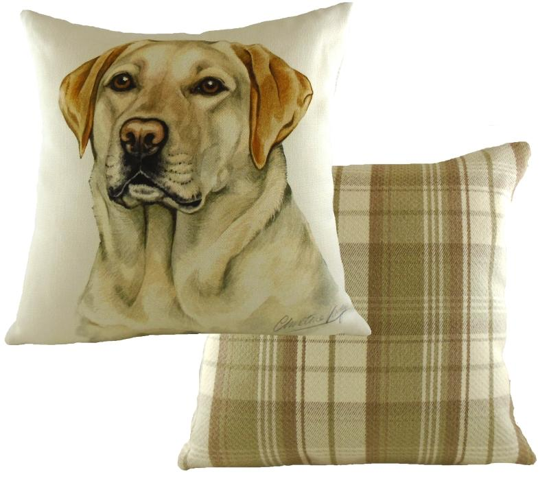 Waggydogz Cushion Square - Yellow Labrador