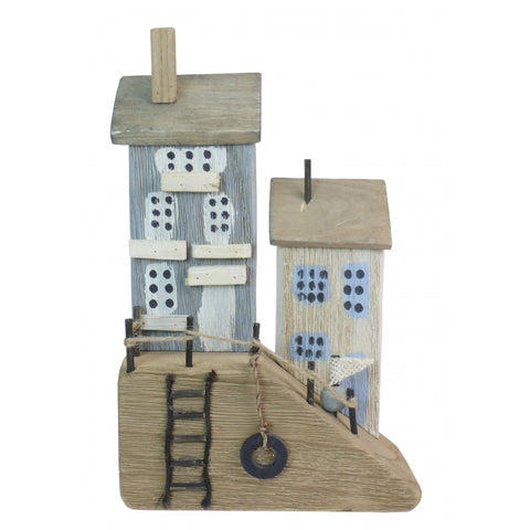 Wooden Harbour Cottage Ornament