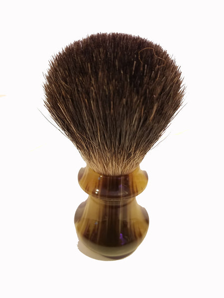 Shave Brush - Faux Ox Horn & Badger Hair