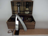 Damascus Steel Straight Razor & Classic Shave Kit