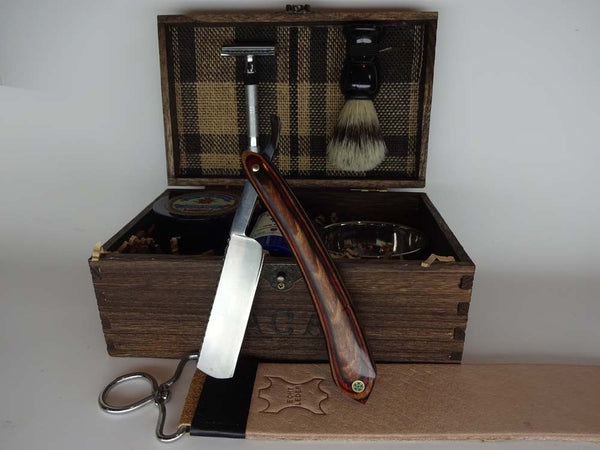 Rosewood Straight Razor & Classic Shave Kit
