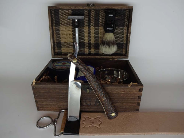 Stag Horn Straight Razor & Classic Shave Kit