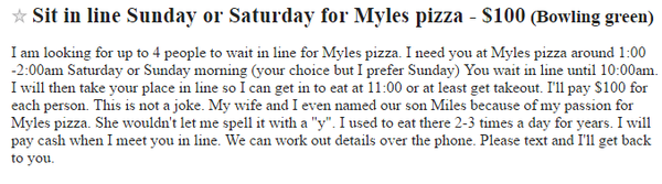 Myles' Pizza