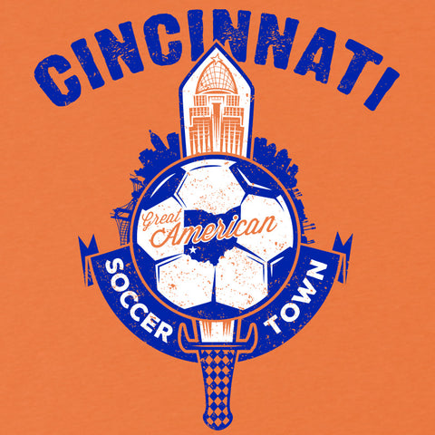 Cincinnati Great American Soccer Town T-Shirt