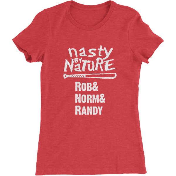 Cincinnati Nasty By Nature Women's Baseball T-Shirt