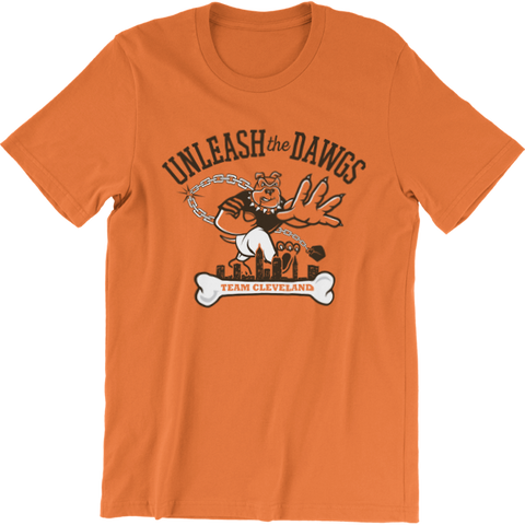 Cleveland Unleash the Dawgs Football T-Shirt