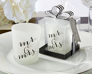Mr. & Mrs. Candle Favors