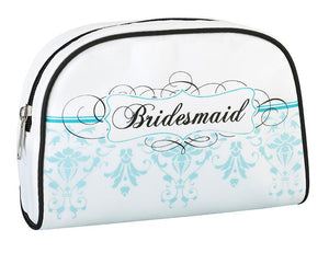 Aqua Bridesmaid Makeup Bag - Love Wedding Shop