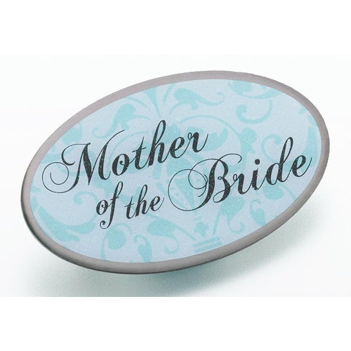 Oval Aqua Mother of the Bride Pin - Love Wedding Shop
