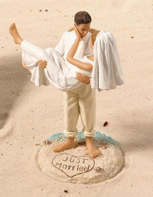 Beach Bride and Groom Wedding Cake Topper - Love Wedding Shop