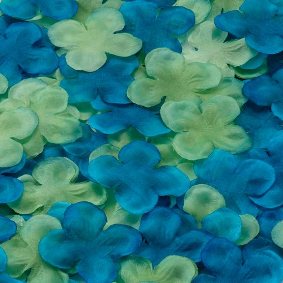 Blue and Green Flower Petals - Love Wedding Shop