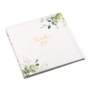 Botanical and Gold Geometric Guest Book Back Cover - Love Wedding Shop