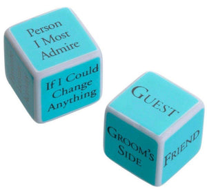 Aqua Bridal Shower Game Dice - Love Wedding Shop