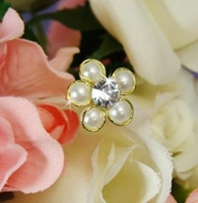 Ivory Pearl Flower Bridal Bouquet Jewelry - Love Wedding Shop