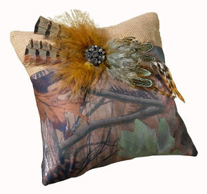 Camo Ring Bearer Pillow - Love Wedding Shop