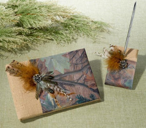 Camouflage Wedding Guest Book and Pen Set - Love Wedding Shop