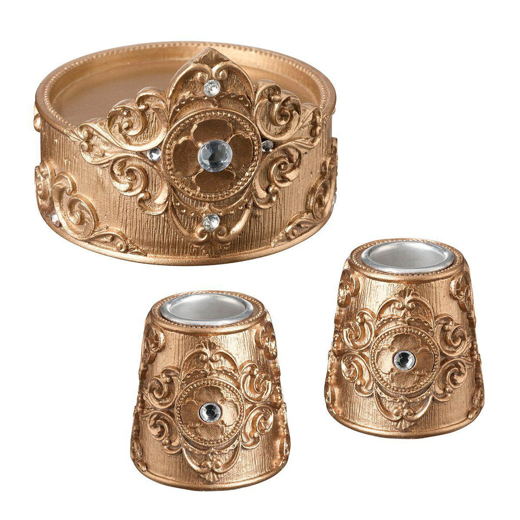 Gold Unity Candle Holders Set - Love Wedding Shop