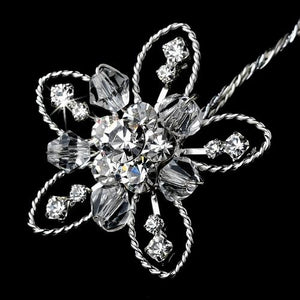 Crystal and Rhinestone Flower Bouquet Jewelry - Love Wedding Shop