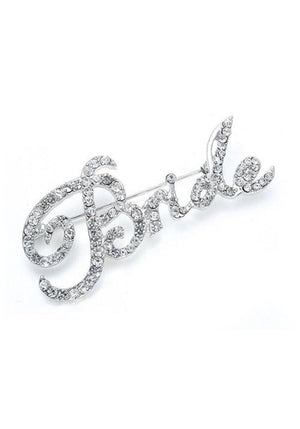 "Crystal ""Bride"" Pin - Love Wedding Shop"