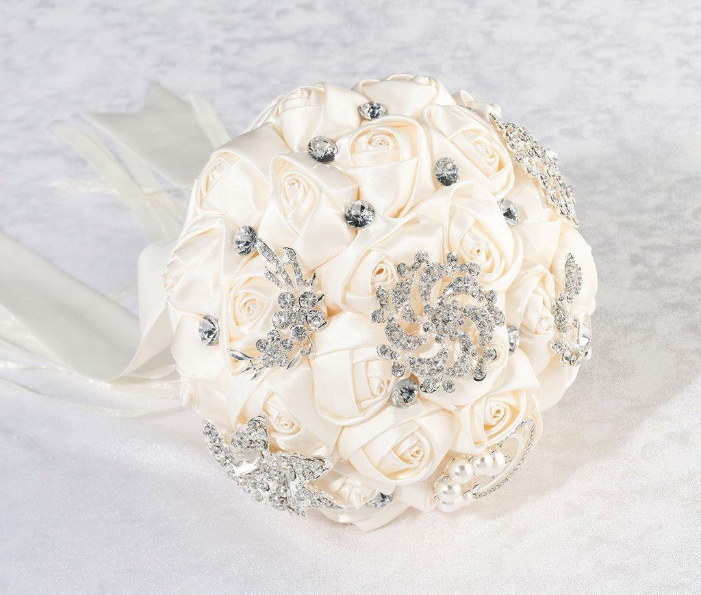 Crystal Brooch Bridal Bouquet - Love Wedding Shop