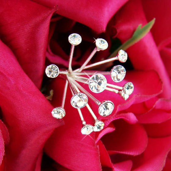 Crystal Spray Bouquet Jewelry - Love Wedding Shop