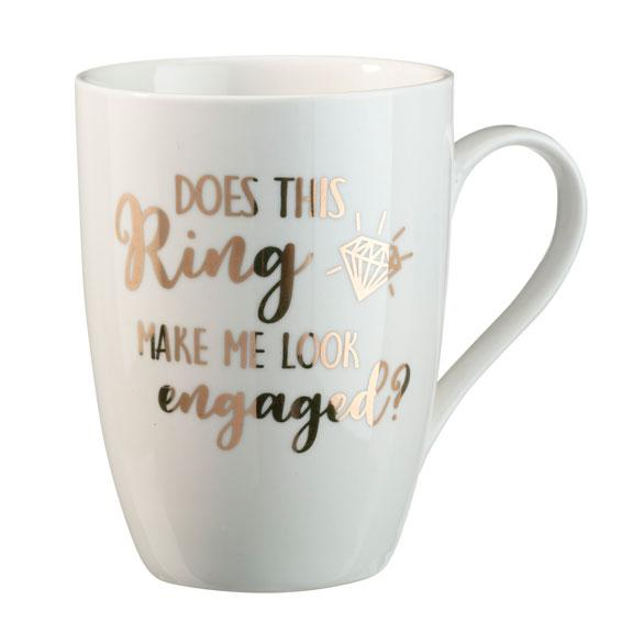 Does This Ring Make Me Look Engaged Coffee Mug - Love Wedding Shop