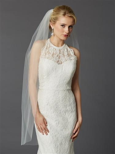 Ivory Fingertip Length Bridal Veil - Love Wedding Shop