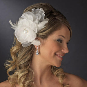 Floral Bridal Hair Clip - Love Wedding Shop