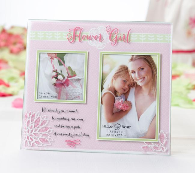 Pink Flower Girl Picture Frame - Love Wedding Shop