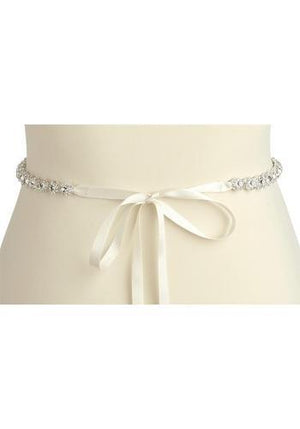 Back View of Silver Plated Genuine Preciosa Crystal Wedding Dress Belt - Love Wedding Shop