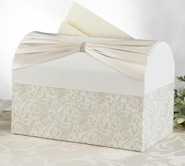 Ivory Sash Wedding Card Box - Love Wedding Shop