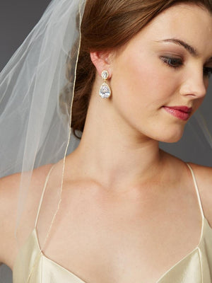 Gold Pencil Edge Bridal Veil - Love Wedding Shop