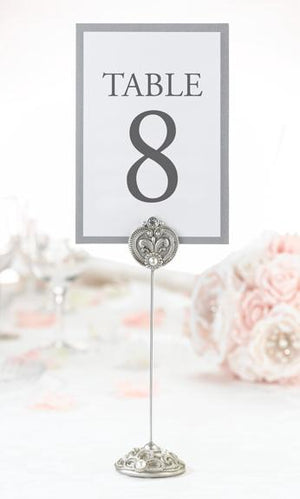 Jeweled Table Number Holders - Love Wedding Shop