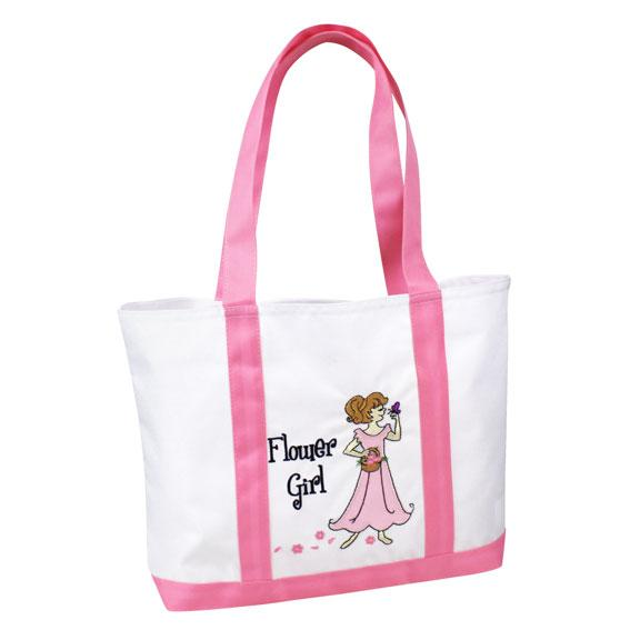 Large Nylon Flower Girl Tote Bag - Love Wedding Shop
