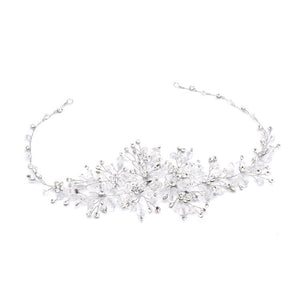 Lavish Silver Crystal Hair Vine - Love Wedding Shop