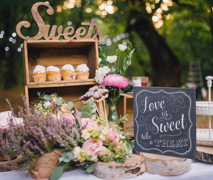 Chalk Style Love is Sweet Canvas Wedding Sign - Love Wedding Shop