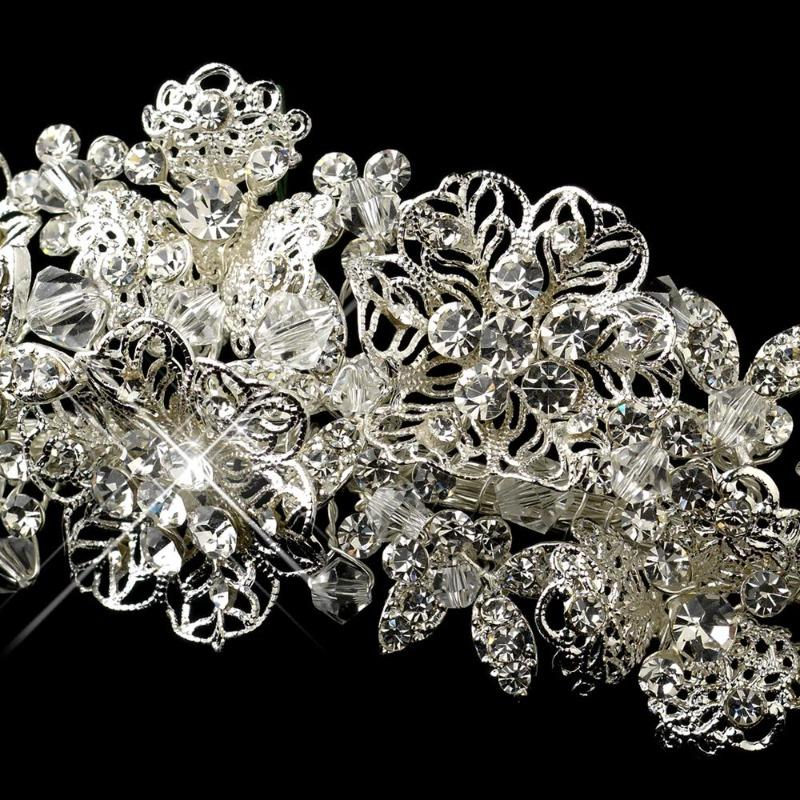 Magnificent Floral Design Bridal Tiara