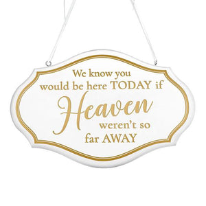 White and Gold Memorial Wedding Chair Sign - Love Wedding Shop