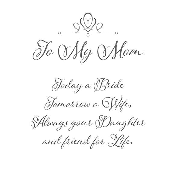 Mother of the Bride Handkerchief Printed Verse - Love Wedding Shop